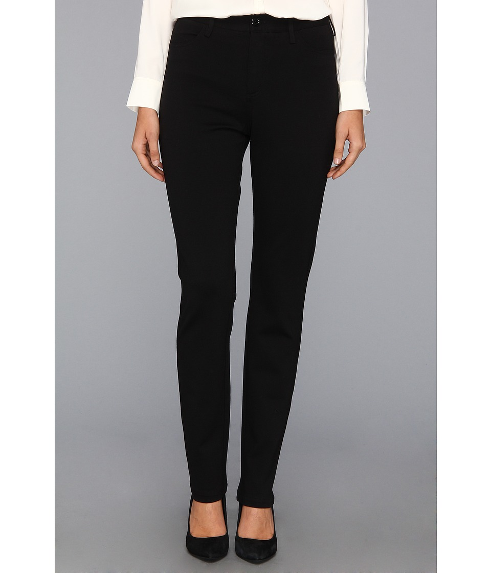 NYDJ - Cindy Slim Leg Ponte Knit Pant (Black) Women's Casual Pants