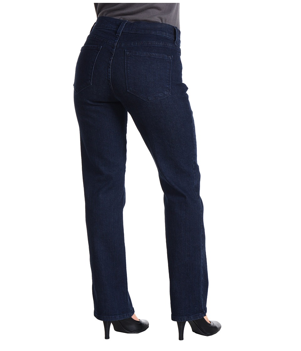 NYDJ Petite Petite Marilyn 5-Pocket Slim Leg Denim Pant (Blue Black) Women