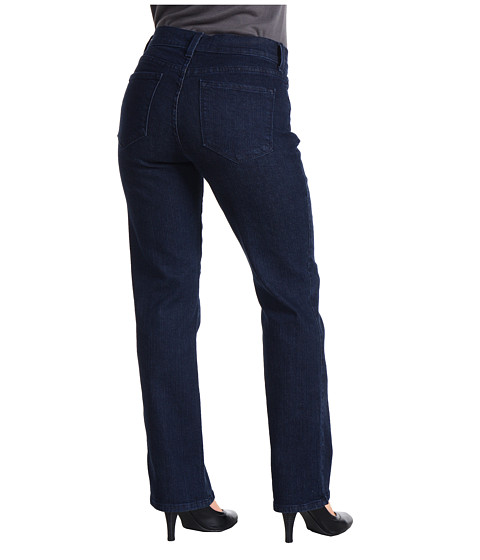 NYDJ Petite - Petite Marilyn 5-Pocket Slim Leg Denim Pant (Blue Black) Women's Jeans