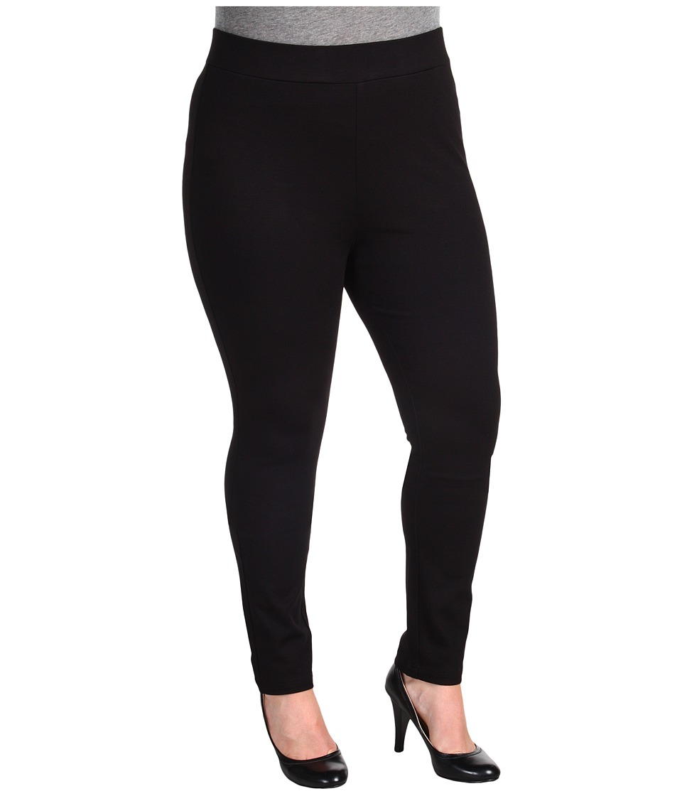 NYDJ Plus Size - Plus Size Jodie Pull-On Ponte Knit Legging (Black) Women's Casual Pants