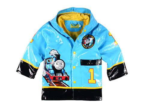 Western Chief Kids - Thomas Full Steam Ahead Rain Coat (Toddler/Little Kids) (Blue) Boy's Jacket