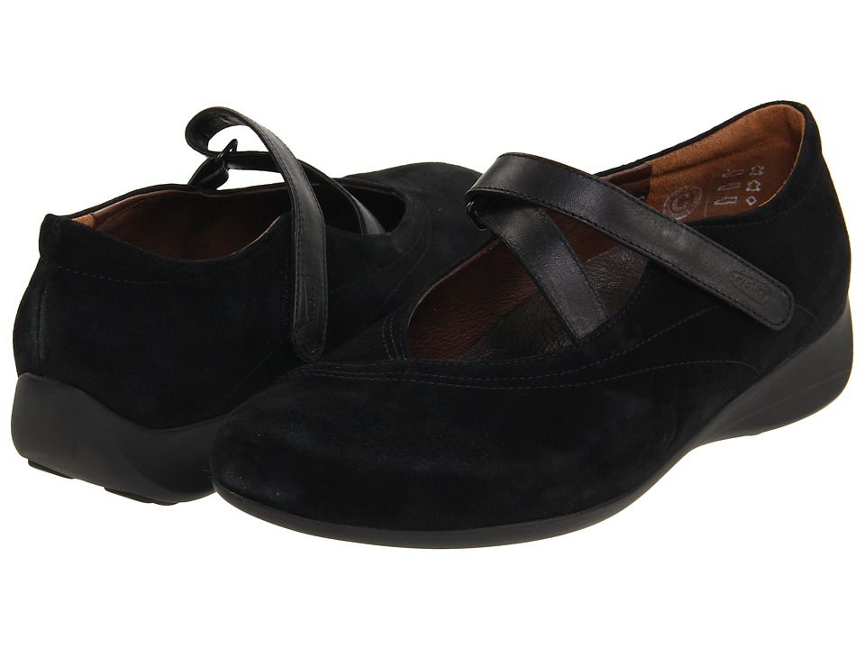 Wolky - Passion (Black Goat Suede) Women's Flat Shoes
