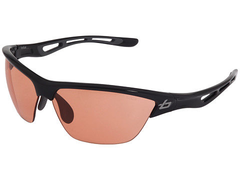 Bolle - Helix (Shiny Black/Photo Rose Lens) Sport Sunglasses