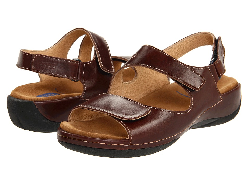 Wolky - Liana (Cafe Smooth Leather) Women's Sandals