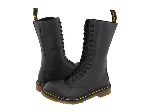 Dr. Martens - 1940 (Black Fine Haircell) Work Lace-up Boots