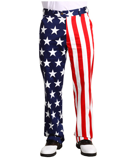Loudmouth Golf - Star Stripes Pant (Red/White/Blue) Men
