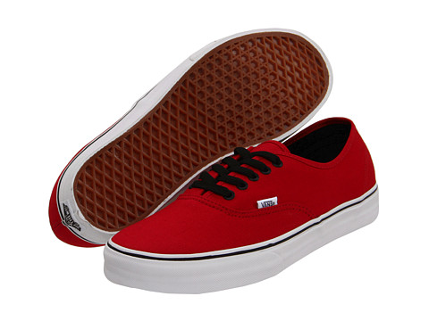 Vans - Authentic (Chili Pepper/Black) Skate Shoes