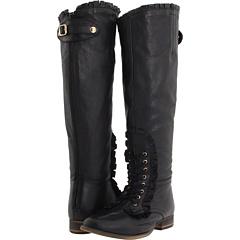 Betsey Johnson Rallly (Black Leather) Footwear