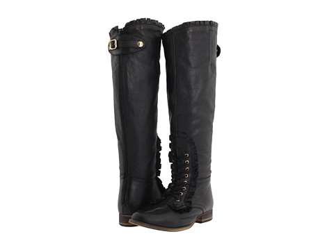 Betsey Johnson - Rallly (Black Leather) Women's Boots
