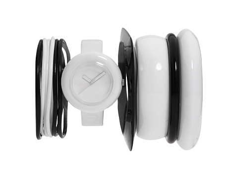 Vestal - The Set (White/White/Black Bangles) Watches