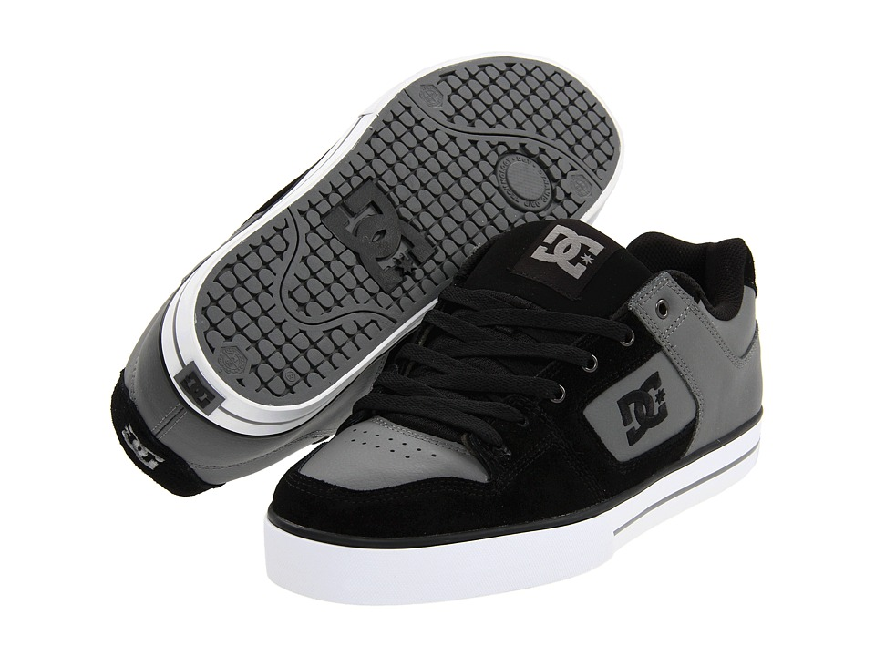 DC - Pure (Charcoal/Black) Men's Skate Shoes