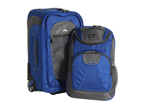 High Sierra - ATGO - 26 Wheeled Backpack (Go Blue) Backpack Bags