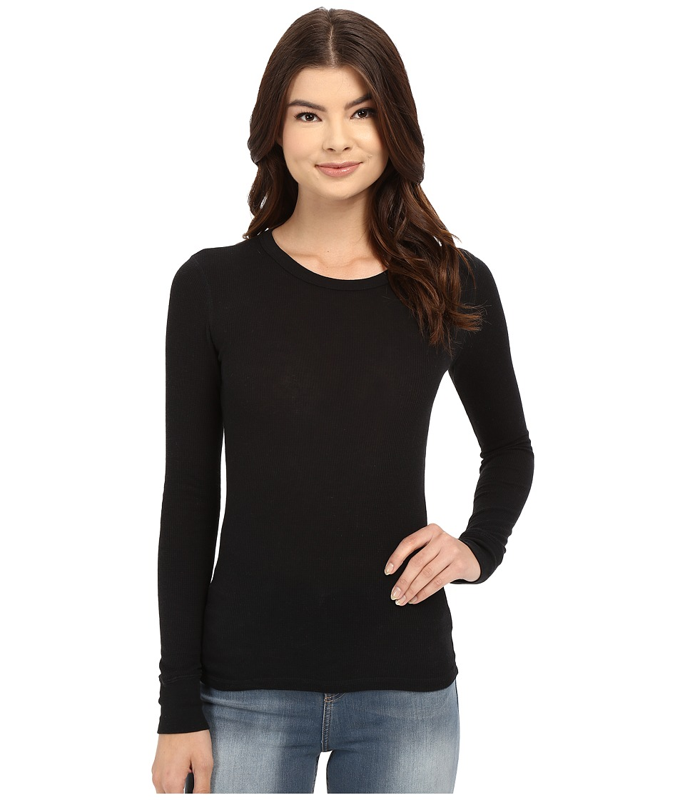 Alternative - Thermal L/S Crew (Black) Women's Long Sleeve Pullover