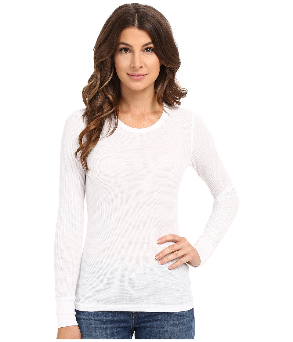 Alternative - Thermal L/S Crew (White) Women's Long Sleeve Pullover