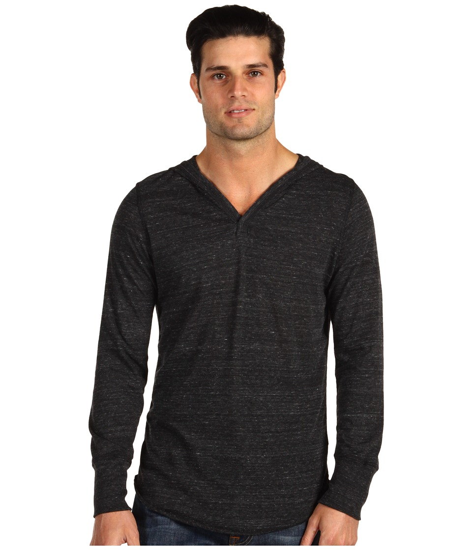 Alternative - Eco-Heather Pullover Hoodie (Eco Black) Men's Long Sleeve Pullover