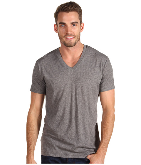Alternative - Perfect V-Neck (Oxford Grey Heather) Men