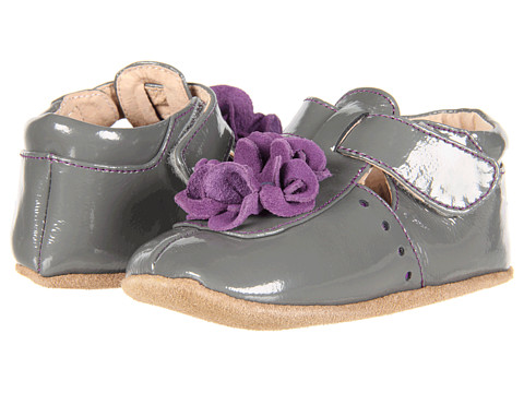 Livie & Luca - Baby Blossom (Infant) (Grey Patent) Girls Shoes