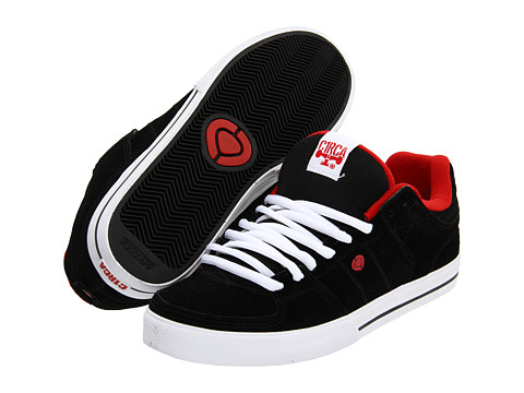 Circa - Tre (Black/Risk Red) Men's Skate Shoes