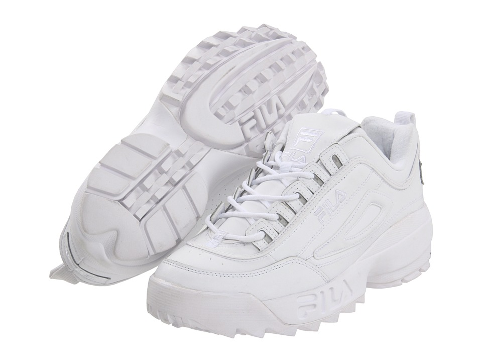 Fila - Strada Disruptor (White/White/White) Men's Shoes