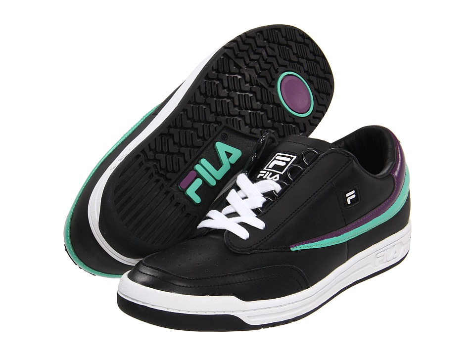 Fila - Original Tennis (Black/Galaxy/Gumdrop) Men's Tennis Shoes