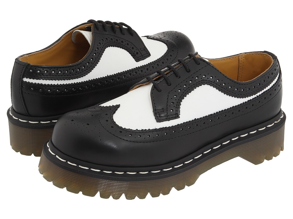 Dr. Martens 3989 (Black/White Smooth) Lace up casual Shoes