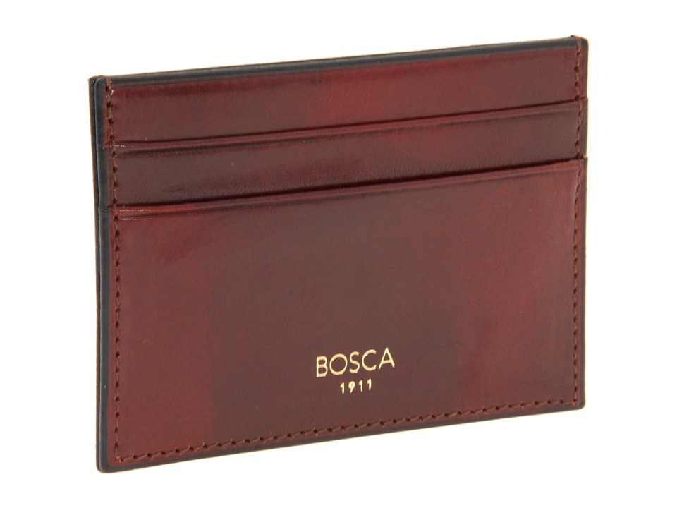 Bosca - Old Leather Collection - Front Pocket Wallet w/ Money Clip (Cognac Leather) Bill-fold Wallet