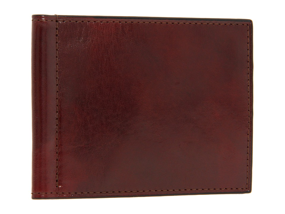 Bosca - Old Leather Collection - Small Bifold Wallet w/ Money Clip (Cognac Leather) Bi-fold Wallet