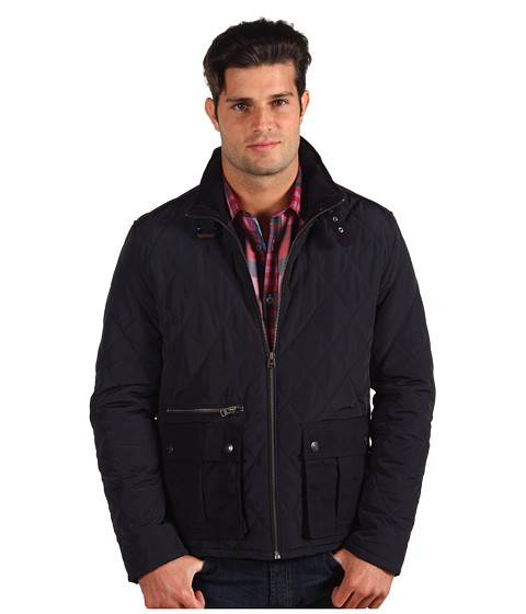 Ted Baker - Busmill Quilted Nylon Jacket (Navy) Men's Jacket