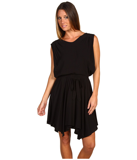 BCBGeneration - Cowl Back Dress (Black) Women's Dress