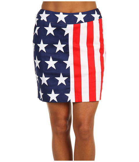 Loudmouth Golf - Stars Stripes Skort (Red/White/Blue) Women