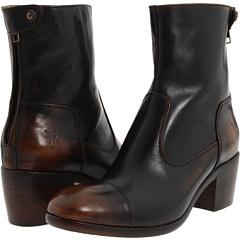 Frye Felicity Short (Dark Brown Brush Off) Footwear