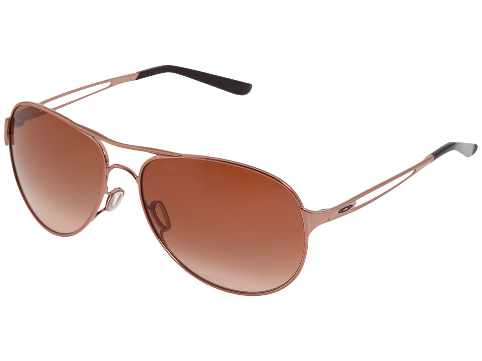 Oakley - Caveat (Rose Gold/VR50 Brown Gradient Lens) Sport Sunglasses