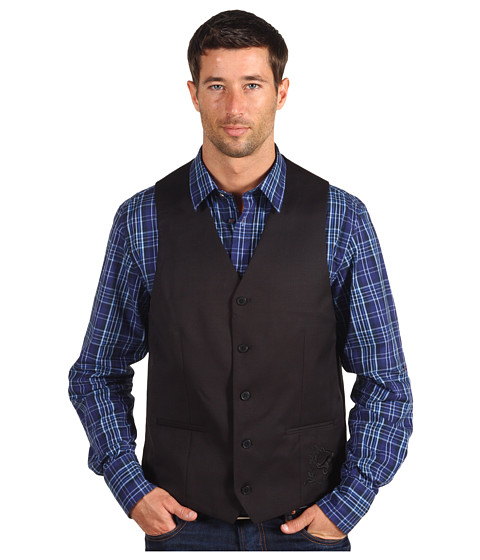 Moods of Norway - Victor Casual Vest (Black) Men's Vest