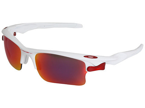 Oakley - Fast Jacket XL Polarized (Polished White/Red Iridium Lens) Sport Sunglasses