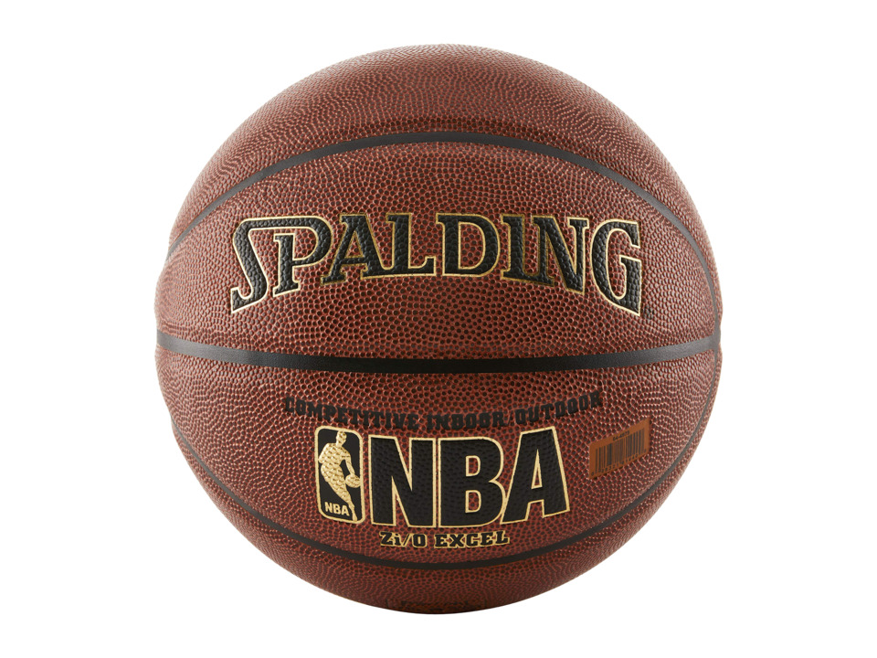 Spalding - NBA Zi/O Excel Basketball (Brown) Athletic Sports Equipment