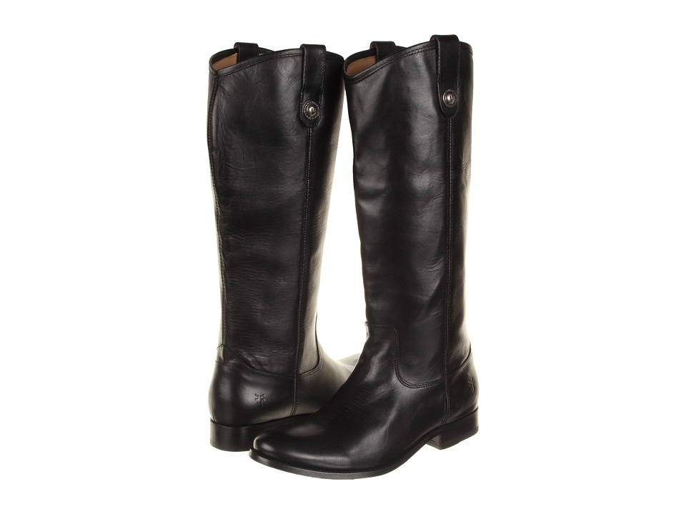 Frye Melissa Button Boot Extended (Black Extended (Soft Vintage Leather)) Cowboy Boots