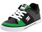DC - Pure (Toddler/Youth) (Black/White/Emerald) - Footwear