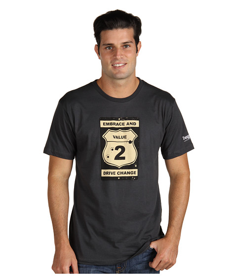 Zappos.com Gear - Core Value 2 Road Sign (Charcoal) Men's T Shirt
