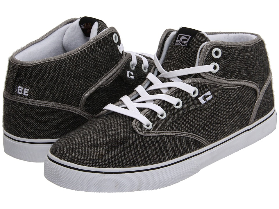 Globe - Motley Mid (Distressed Grey/White) Men's Skate Shoes
