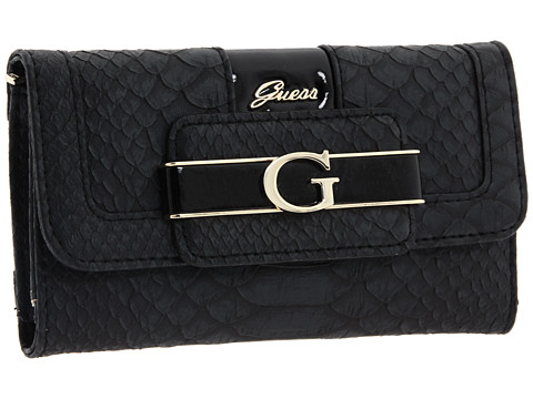 GUESS - Fallon Slim Clutch (Black) Clutch Handbags