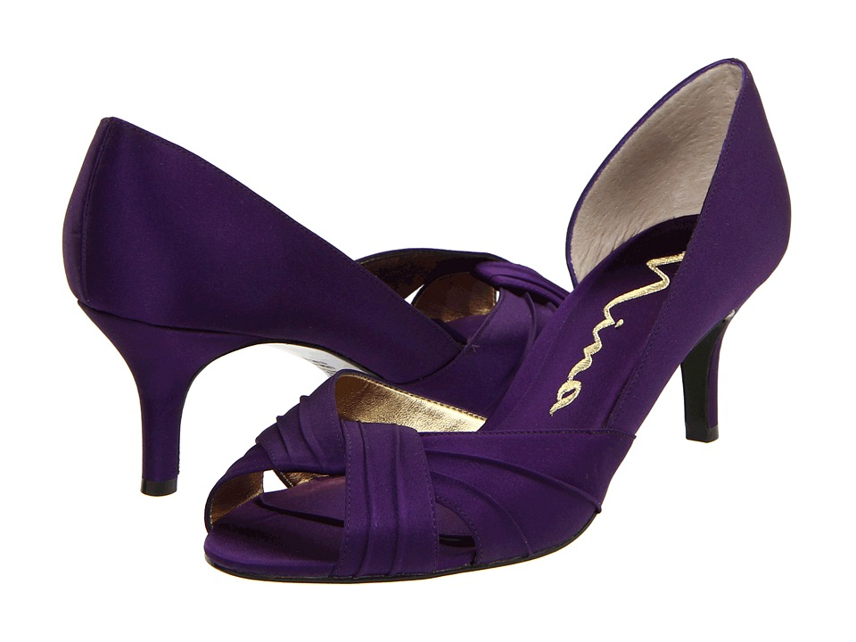 Nina - Culver (Grape Satin) Women's Bridal Shoes