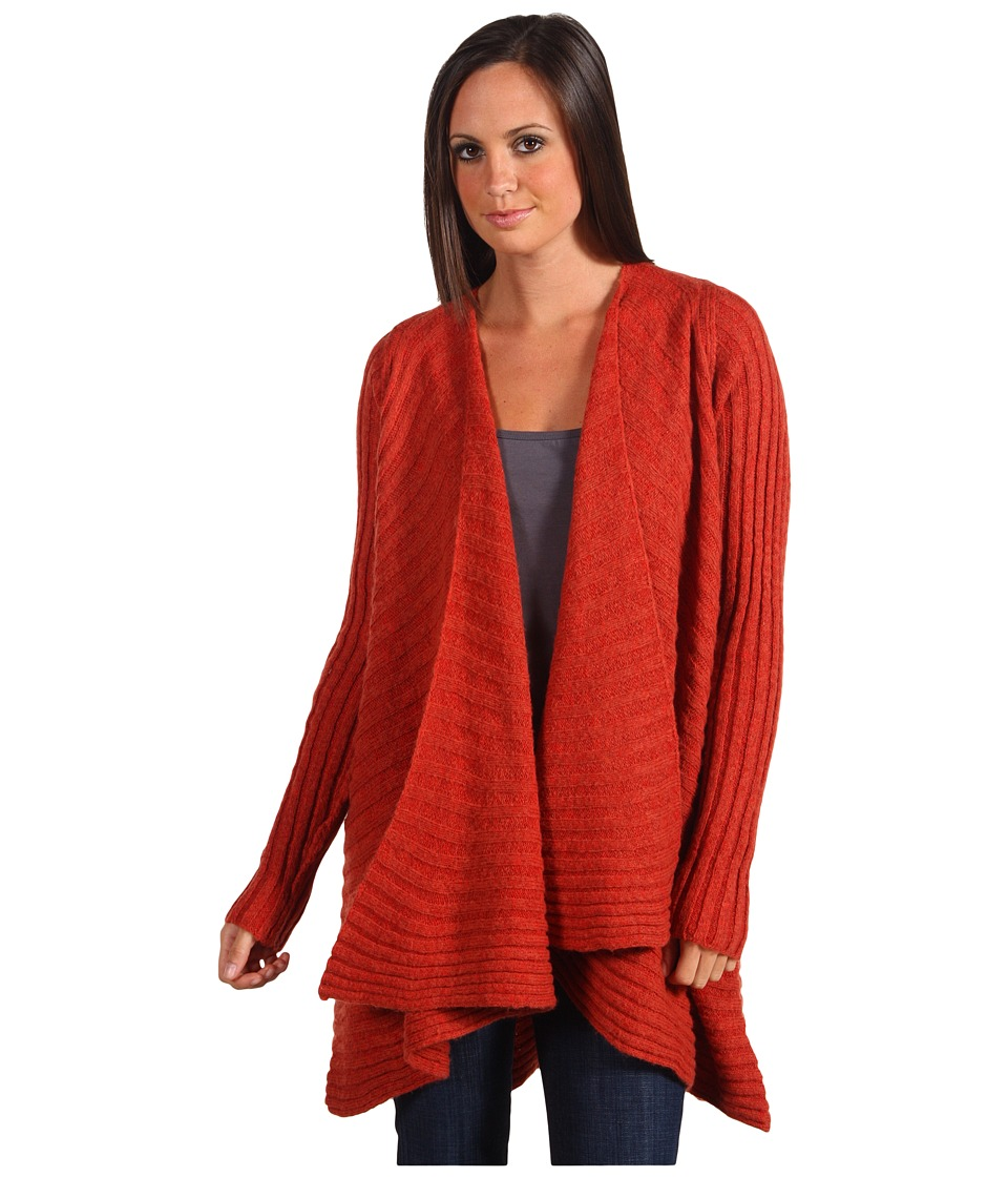 Free People - Beached Shell Cardigan (Cayenne) Women's Sweater