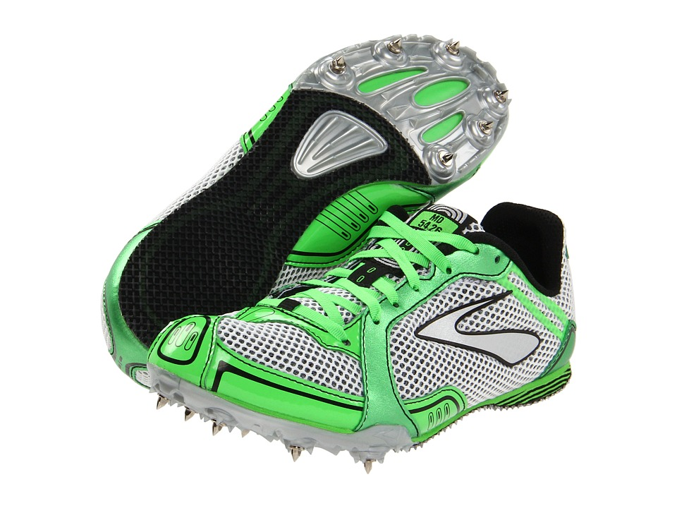 Brooks - PR MD 54.26 (Neon Green/Silver/Black/White) Women's Track Shoes