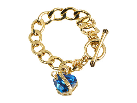 Juicy Couture - Technicolor Dream Icons Heart Starter Bracelet (Blue) Bracelet