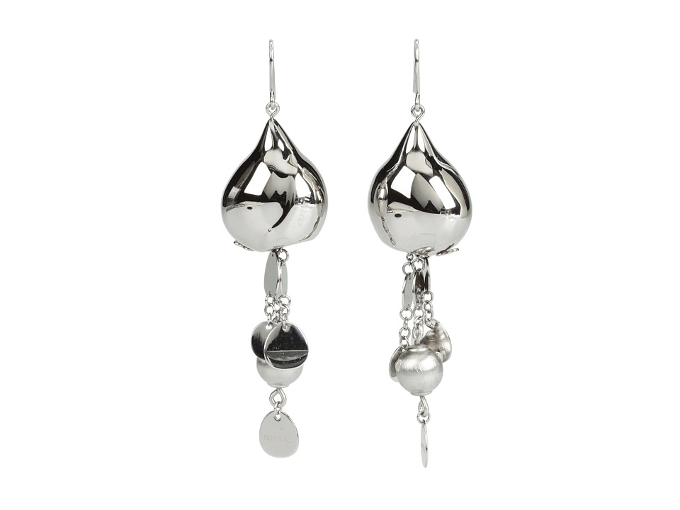 Breil Milano - Bloom Sphere Chains Pailettes Earrings (Silver) Earring