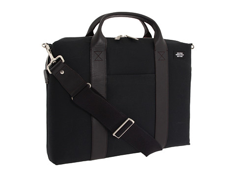 Jack Spade - Waxwear Davis Brief (Black) Briefcase Bags