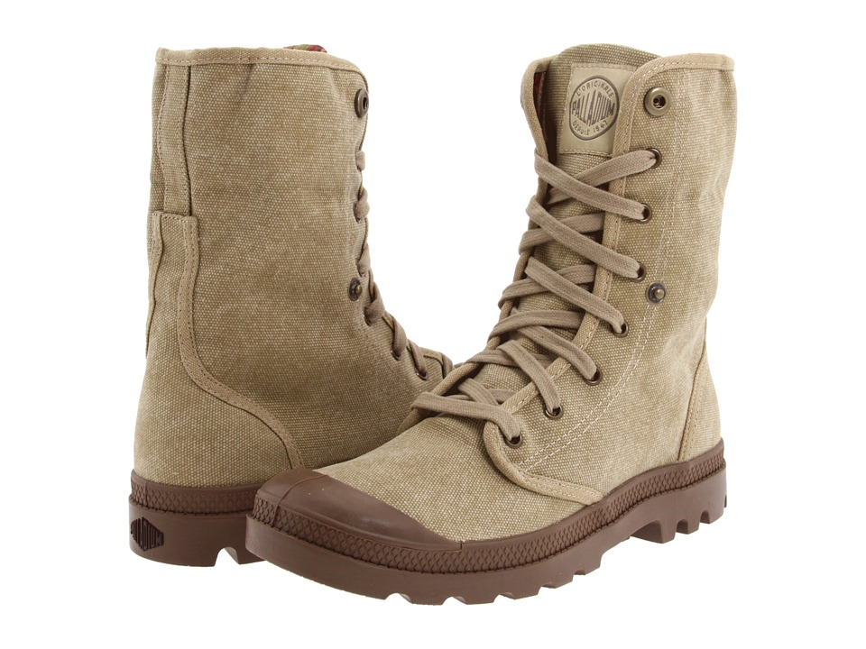 Palladium - Baggy (Stonewashed Dark Khaki) Men's Lace-up Boots