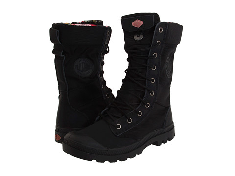 Palladium - Pampa Tactical (Black/Old Rose) Women's Lace-up Boots