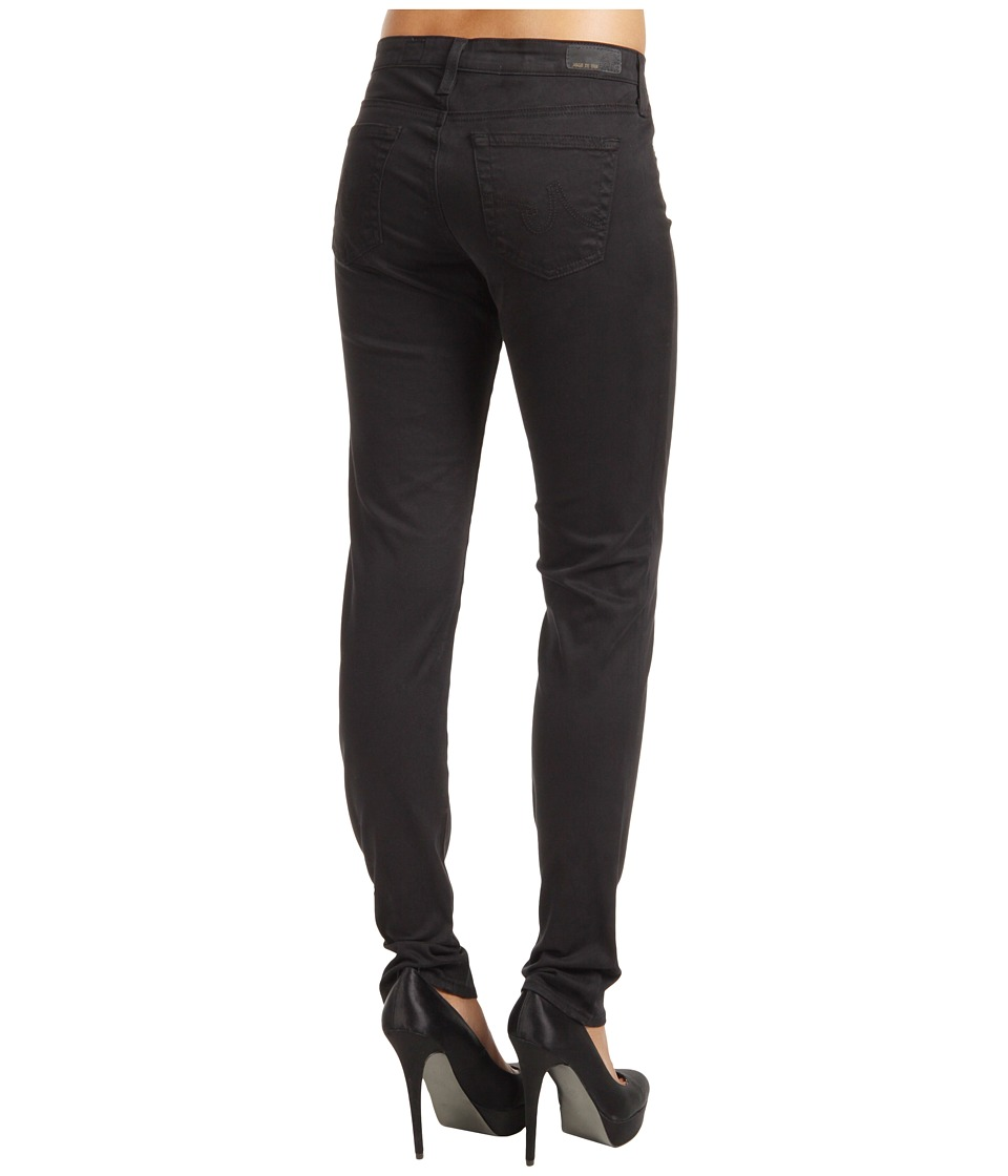 AG Adriano Goldschmied - Stilt Cigarette Leg Stretch Sateen in Super Black (Super Black) Women's Jeans