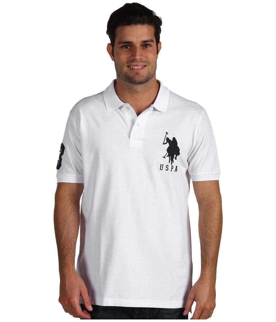 U.S. POLO ASSN. - Big Pony Polo II (White) Men's Short Sleeve Knit
